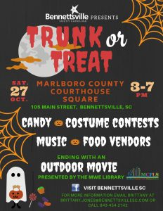 Trunk or Treat @ Marlboro County Courthouse Square | Bennettsville | South Carolina | United States