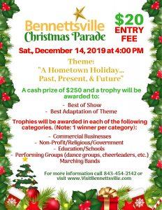 Bicentennial Christmas Parade @ Downtown Bennettsville