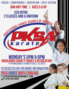 PKSA Karate w/ Jason Deese @ Bennettsville Community Center