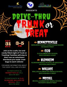 Drive-Thru Trunk or Treat @ Marlboro County Courthouse Square